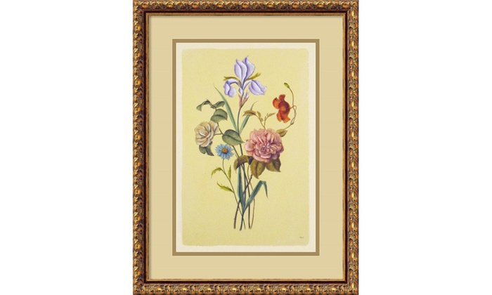Botanical Bouquet V Framed Art Print 17x22 In Groupon