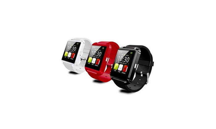 Bluetooth Silicone Smart Watch for iOS & Android - Assorted Colors