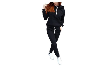 Women's 2 Piece Tracksuit Fleece Hoodie and Pants Sports Sets 1deae7e7-1f13-4cc9-8eaa-3cf86c2d818f