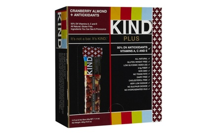 KIND PLUS, Cranberry Almond + Antioxidants, Gluten Free Bars, 1.4 Ounce, (Pack of 12)