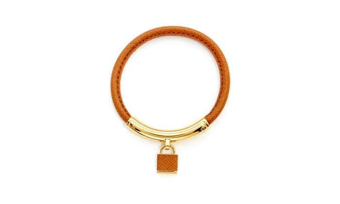 Michael Kors Heritage Padlock Leather Bracelet