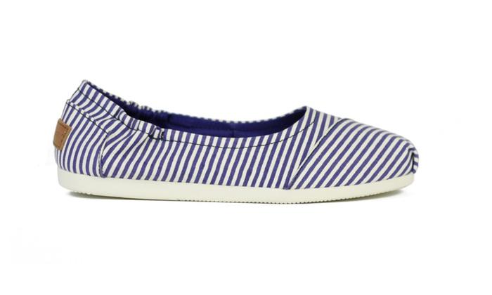 Joy & Mario New Women Purple Stripe Comfort Espadrille Flat Shoes - 6.5