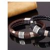Men's Wristband Metal Studded Leather Bracelet Retro Fashion Jewelry