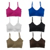 Women's 6 Pack Plus Size Padded Scoopneck Bralettes Bras