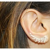 18 K Gold and Sterling Silver Ear Cuff