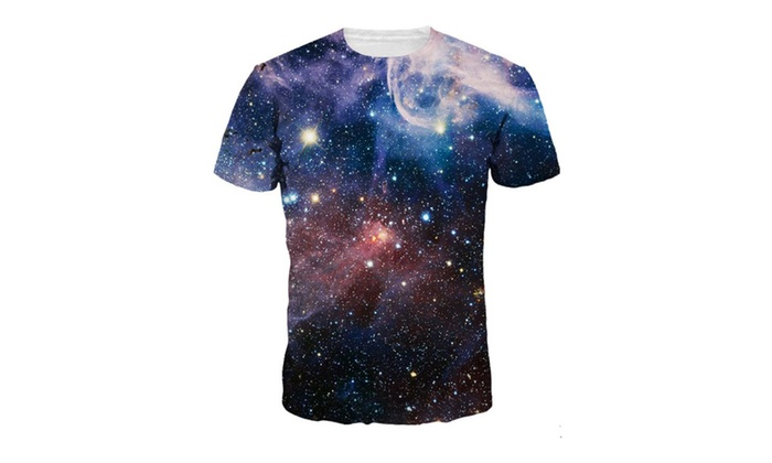 Unisex Galaxy Print 3D Casual Short Sleeve T-Shirt Tee