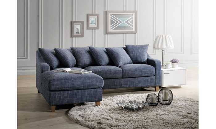 Alpha Modern Contemporary 2Piece Sectional Sofa Groupon