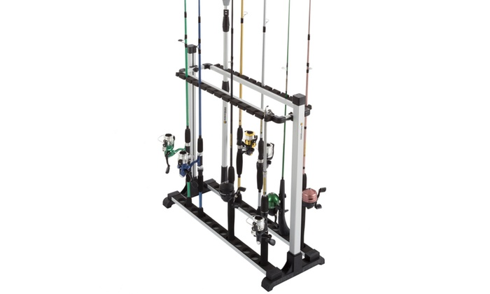 Up to off on fishing rod rack organizer s