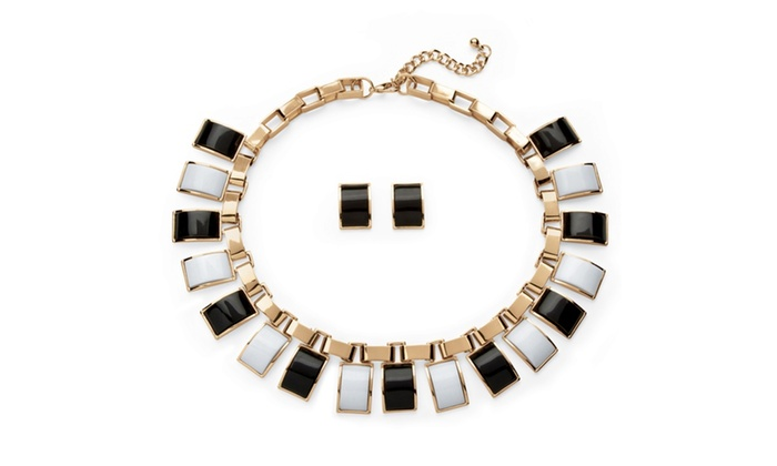 20 Off On Black And White Jewelry Set I Groupon Goods