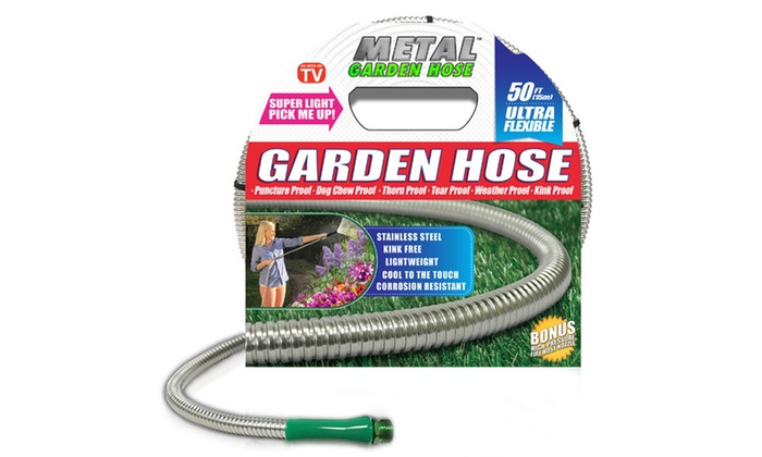 Metal garden hose groupon for Gardening 4 less groupon