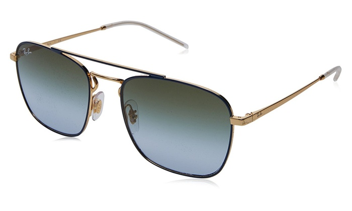 34c81c6b5d3 Ray Ban RB3588 9062I7 55 Gold Top On Blue   Light Blue Gradient ...