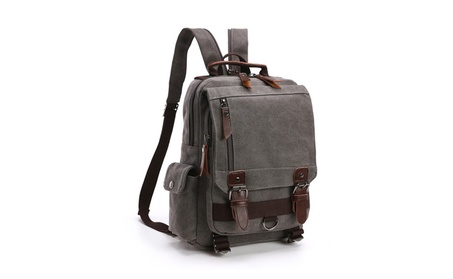 Mens Vintage Canvas Backpack School Laptop Bag Travel Rucksack 5d410dcc-55e0-4f95-a282-73cfb7f2fd16