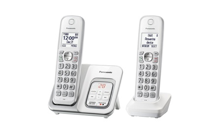 Panasonic KX-TGD532W Expandable Cordless Phone with Call Block