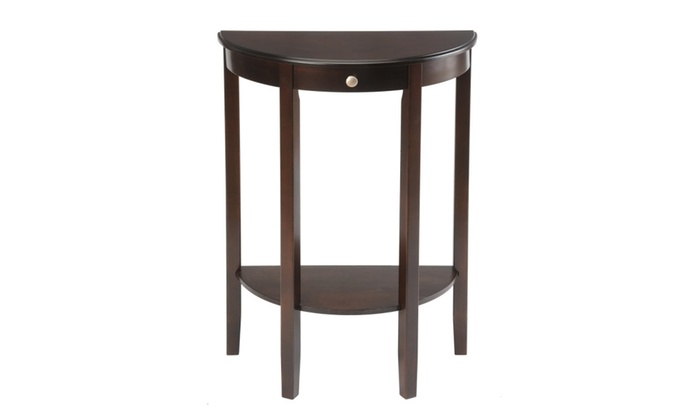 Foyer Table Macy S : Half moon round hall table espresso groupon