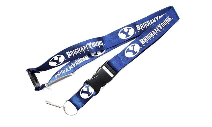 BYU Cougars Lanyard Keychain Id Holder Brigham Young - Blue