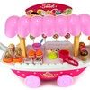Velocity Toys Ice Cream & Sweets Cart Pretend Play Toy Food Play Set