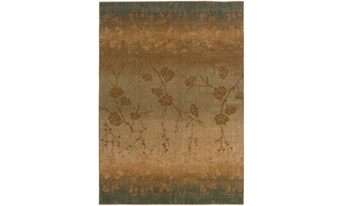 Monarch Owen Blue Beige Ombre Area Rug Groupon