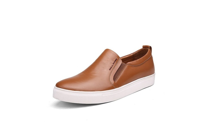 Men's Leather Slip on Loafer Sneaker Casual Shoes