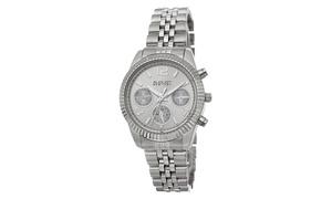 August Steiner Ladies Quartz Stainless Steel Bracelet Watch