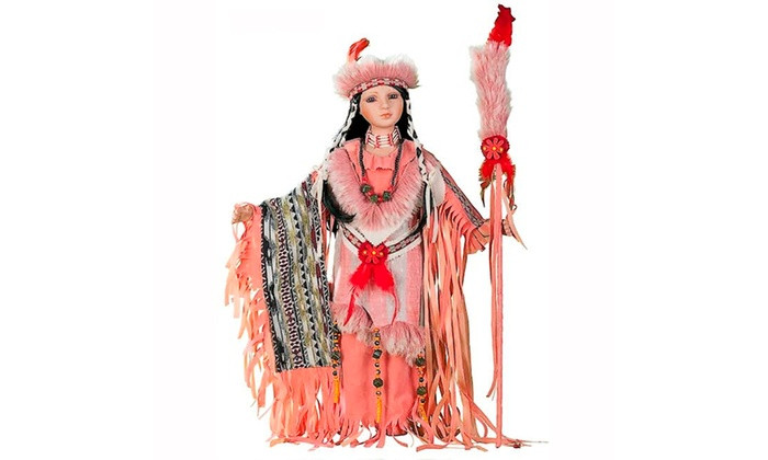 "Groupon Goods: Cherish Crafts 24"" Porcelain Native American Doll 'Desert Wind'"
