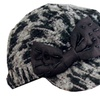 Sakkas Variegated Bow Wool Blend Cadet Cap