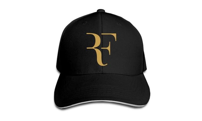 Roger Federer Logo Baseball Cap Hats Black ... b63f59a48eb