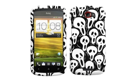 Insten Screaming Ghosts Phone Case for HTC: One S 4d6db008-9dba-42e4-adb0-be9616f514c4