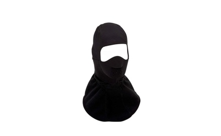 Fleece Full-Face Balaclava Mask - Black