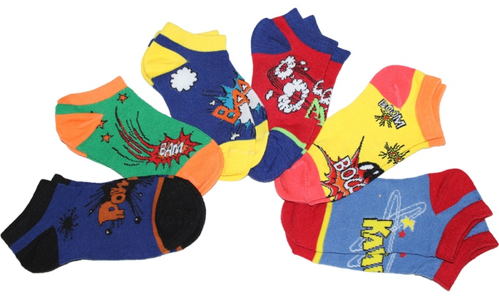 6 Pair Pack - Pow Wow-Anklet Socks