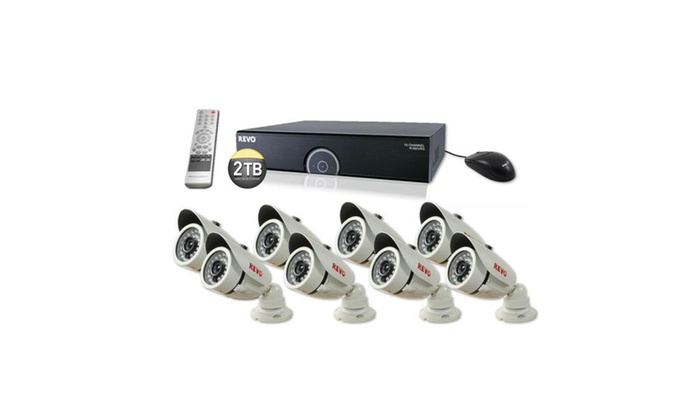16 Ch. 2TB 960H DVR Surveillance System with 8 1200TVL Cameras