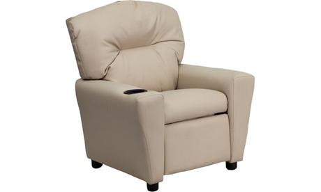 Flash Furniture Contemporary Vinyl Kids Recliner with Cup Holder a531aa19-2e1b-4dba-aeb4-09c98891aa88