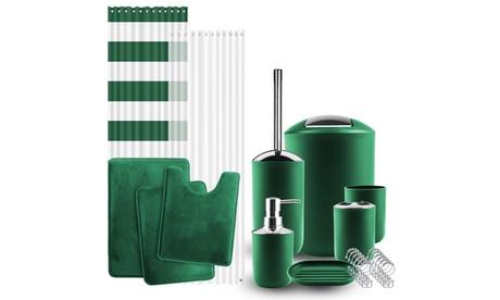 Clara Clark Complete Bathroom Accessories Kit with Bath Rug Set - 12 Piece
