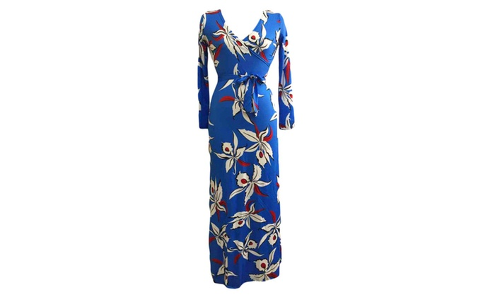 Hisreina: Fashionback Women's Fashion Slim Fit Hidden Zipper Floral Prom Dress  - As Picture / One Size