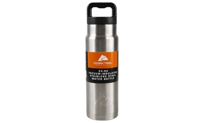 d981c7a510 Ozark Trail 24 oz Double Wall Vacuum Stainless Steel Water Bottle ...