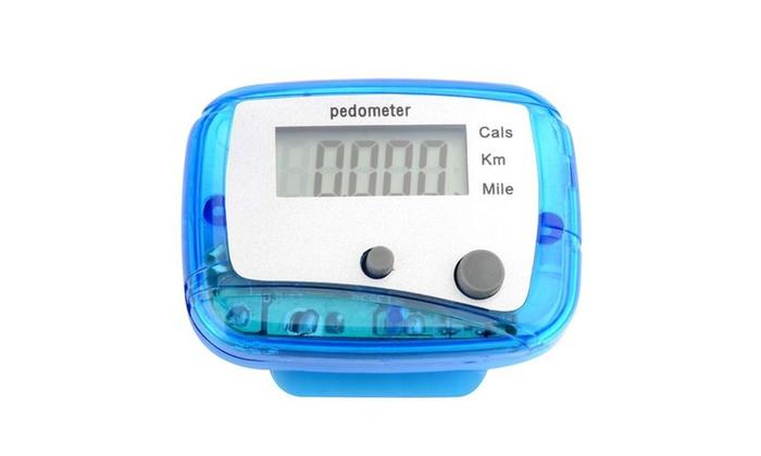 Insten Blue LCD Digital Step Pedometer Run Calorie Walking Pocket Clip