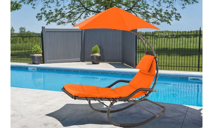 ... Groupon Goods: Vivere Original Dream Rocker Chair   Orange Zest