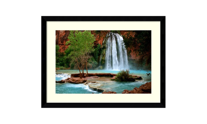 Cascade Auto Group >> Andy Magee 'Havasu Falls' Framed Art Print 39x29-in | Groupon