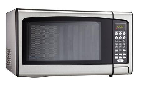 Danby Designer 1.1 cu. ft. Countertop Microwave, Stainless Steel photo