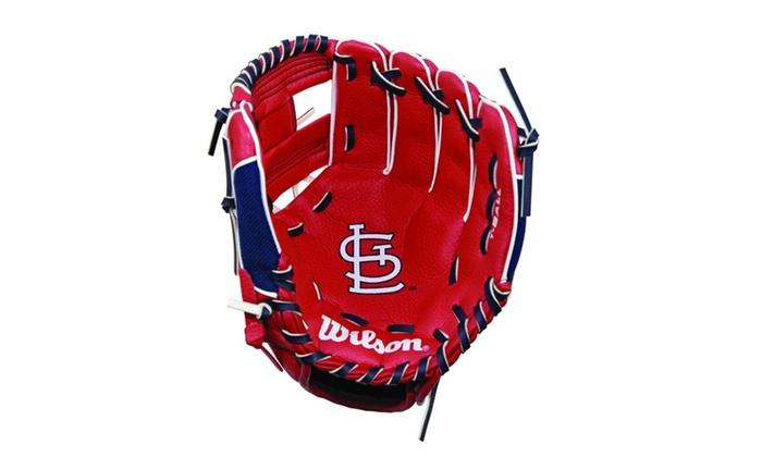 """Wilson A0200 10"""" St Louis Cardinals Baseball Glove"""
