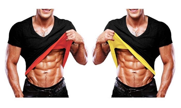 Thermo Slim Men's T-Shirt Running Gym Fitness Athletic Balance