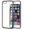 Insten Black TPU Gel Gummy Transparent Clear Back Case Cover iPhone 6
