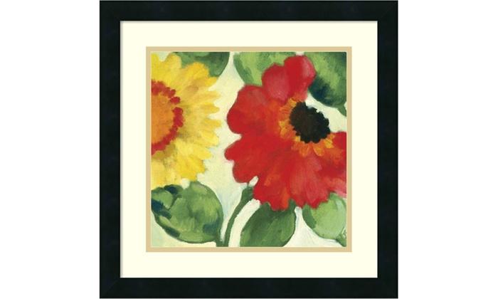 Kim Parker Anemone Garden Iii Framed Art Print 18x18 In