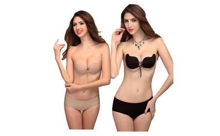 Women Invisible Bra Strapless brassiere Breast Silicone bras Pushn UP 5dfdbaae-a8b9-4aa9-b525-b50d38b7ca7a