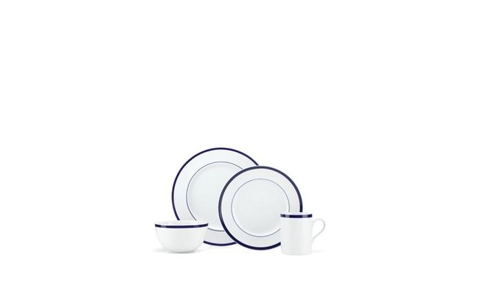 GORHAM 16-Piece Bistro Dinnerware Set ...  sc 1 st  Groupon & GORHAM 16-Piece Bistro Dinnerware Set | Groupon