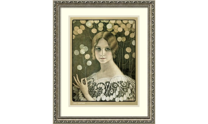 Paul Berthon Lace Framed Art Print 18x22 In Groupon