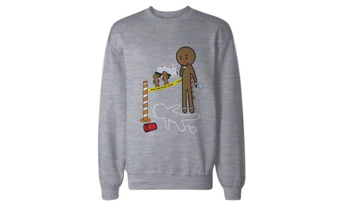 Gingerbread Cookie Investigating Sweatshirt Holiday Pullover Fleece