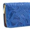 Vegan Mock Croc Embossed Traditional Rose Fashion Wallet