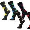 Men Arglye Bright Color Crew Dress Trouser Socks Size 10-13 6-Pack
