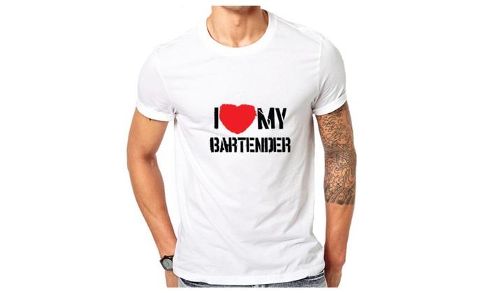 I Love My Bartender Funny T-shirt