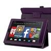 "Insten For Kindle Fire HD 7"" Tablet Folio PU Leather Smart Case Purple"